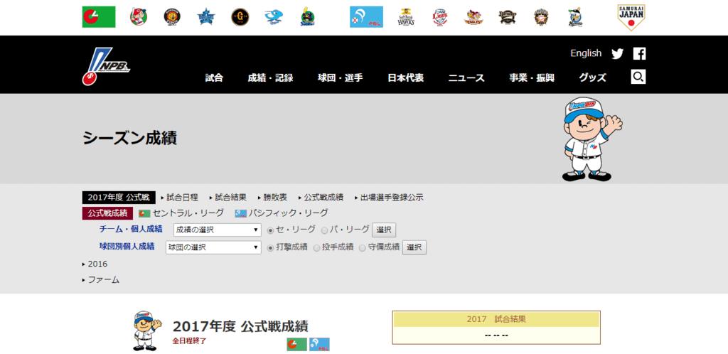 日本野球機構(NPB)オフィシャルサイト