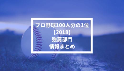 【プロ野球100人分の1位 2018】強肩部門の情報まとめ #100人分の1位