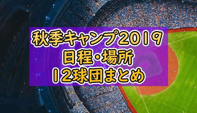【プロ野球】12球団秋季キャンプ2019日程・場所一覧まとめ